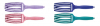 OLIVIA GARDEN BROSSE FINGER BRUSH PASTEL 6 RANGS