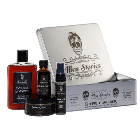 MEN STORIES COFFRET BARBER 4 PRODUITS