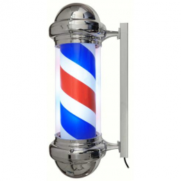 BARBER POLE LUMINEUX GM CHROME**